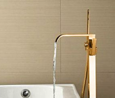 Gold Free Standing Bath Taps
